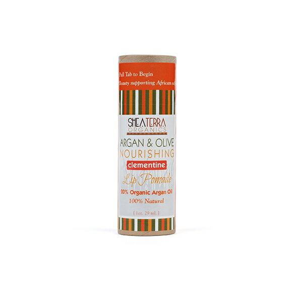 即期良品~SHEA TERRA~ 摩洛哥堅果油  橄欖潤唇膏 柑橘