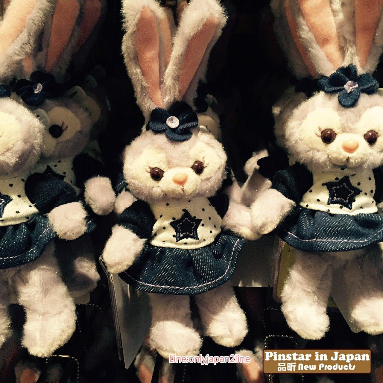 【真愛日本】17080900013 限定站姿別針吊飾-丹寧史黛拉兔 迪士尼 Duffy 達菲雪莉玫 傑力 娃娃玩偶