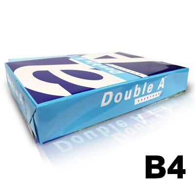 【文具通】Double A 達伯埃 影印紙 噴墨 雷射 影印 B4 70gsm 白色 500張/包 含稅價 P1410725