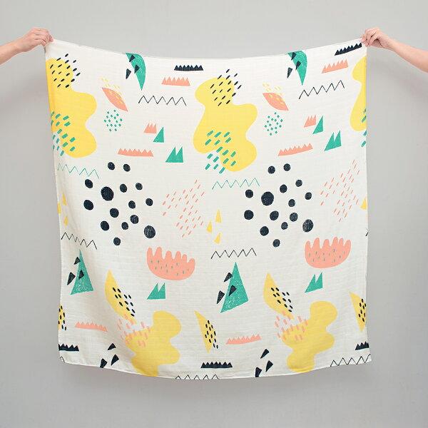 MoguMogu 莫谷市集:Pluto9-韓國時尚彩繪紗布巾-【仙境】(竹碳纖維)