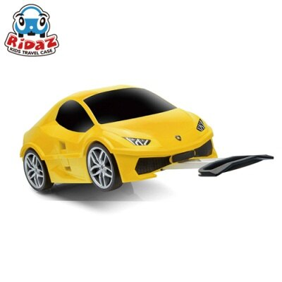 ※Ridaz 兒童跑車行李箱 Lamborghini Huracan藍寶堅尼(黃色)