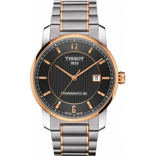 TISSOT天梭T0874075506700 鈦金屬雙色80小時動力儲存機械腕錶/黑面40mm