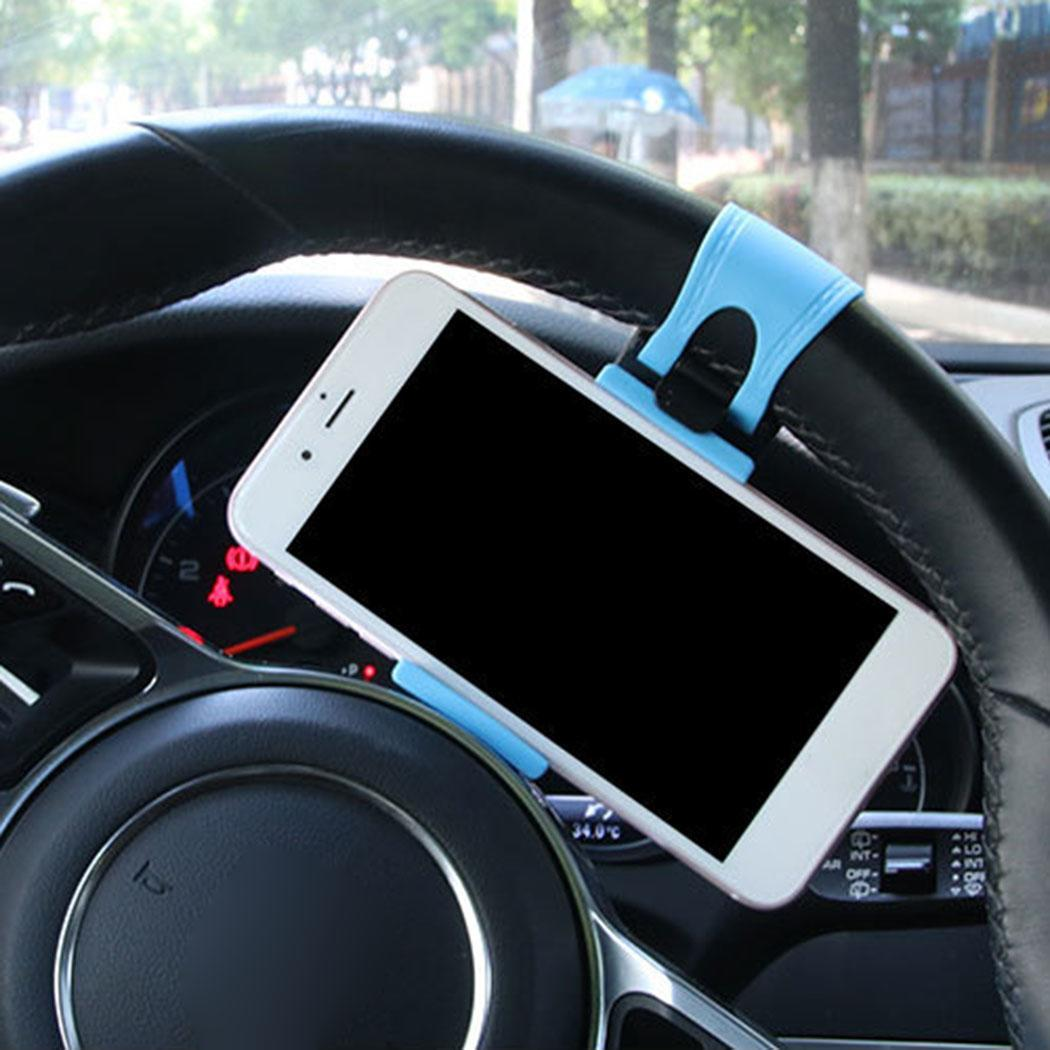 Car Steering Wheel Phone GPS Stand Clip Rubber 2