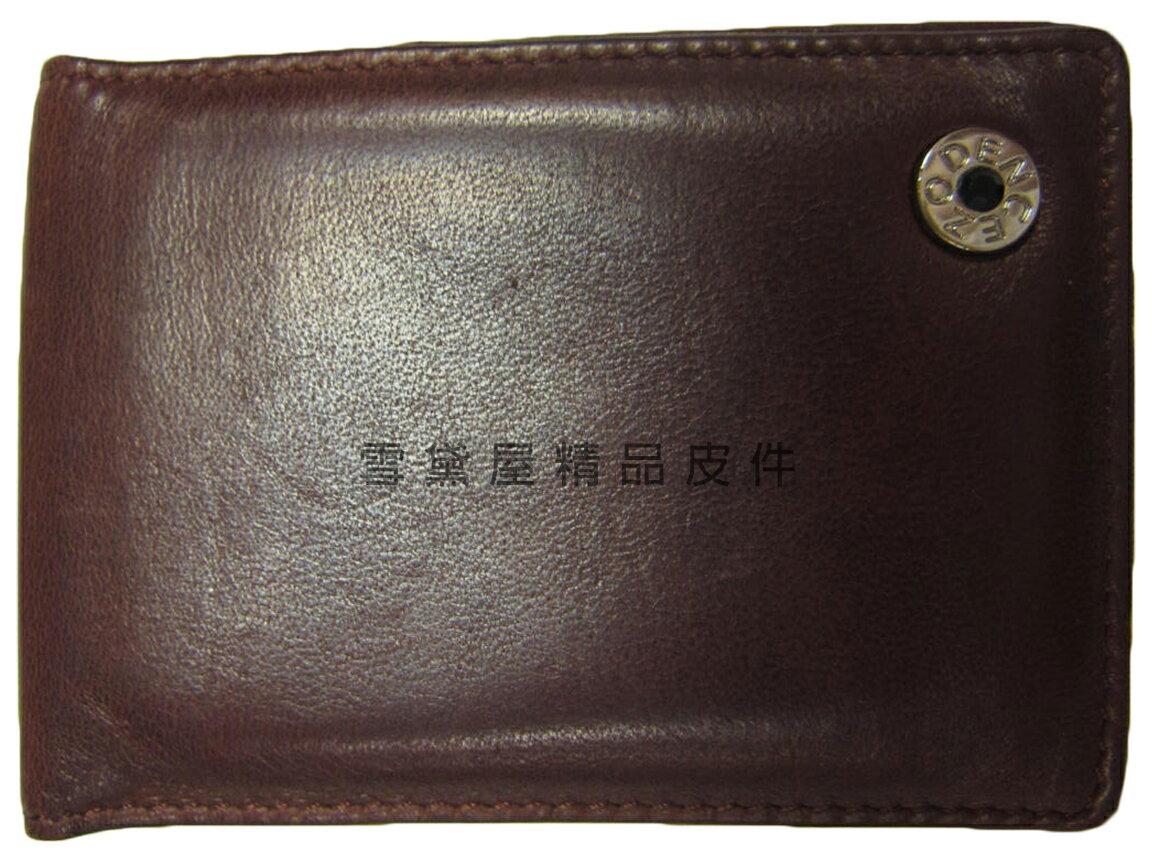 ~雪黛屋~ZOPENCE 名片夾信用卡夾中性復古懷舊風格二折式主袋100%進口軟質羊皮革材質Z23G205401