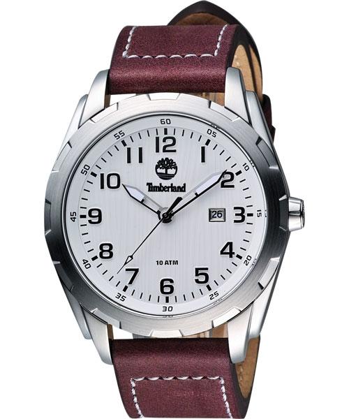 大高雄鐘錶城 Timberland 天柏嵐 TBL.13330XS/ 01魅力質感紅腕錶/ 白面45mm