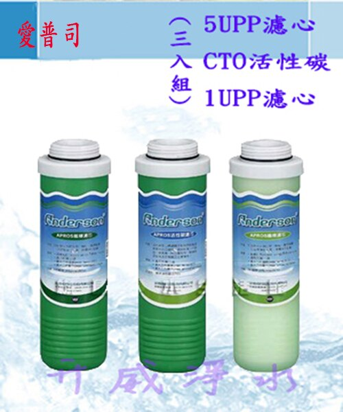 Anderson 安德成/愛普司 ★5uPP濾心+CTO壓縮活性碳+1uPP濾心★