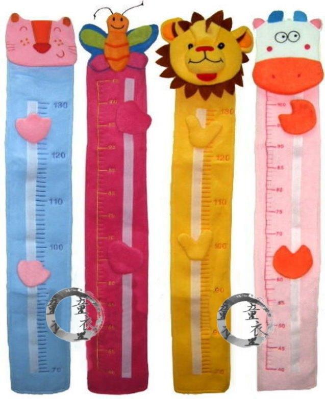 童衣圓【N001】N1造型身高尺 鮮豔可愛 布質身高尺 妝點兒童房 讓量身高不再單調
