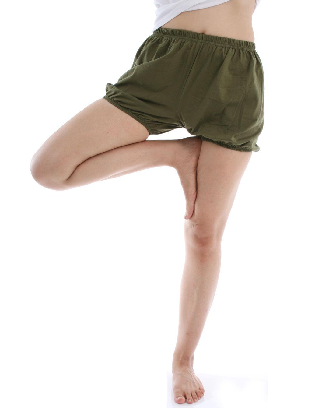 360度全方位防走光! RTBU瑜珈褲~燈籠褲造型。軍綠