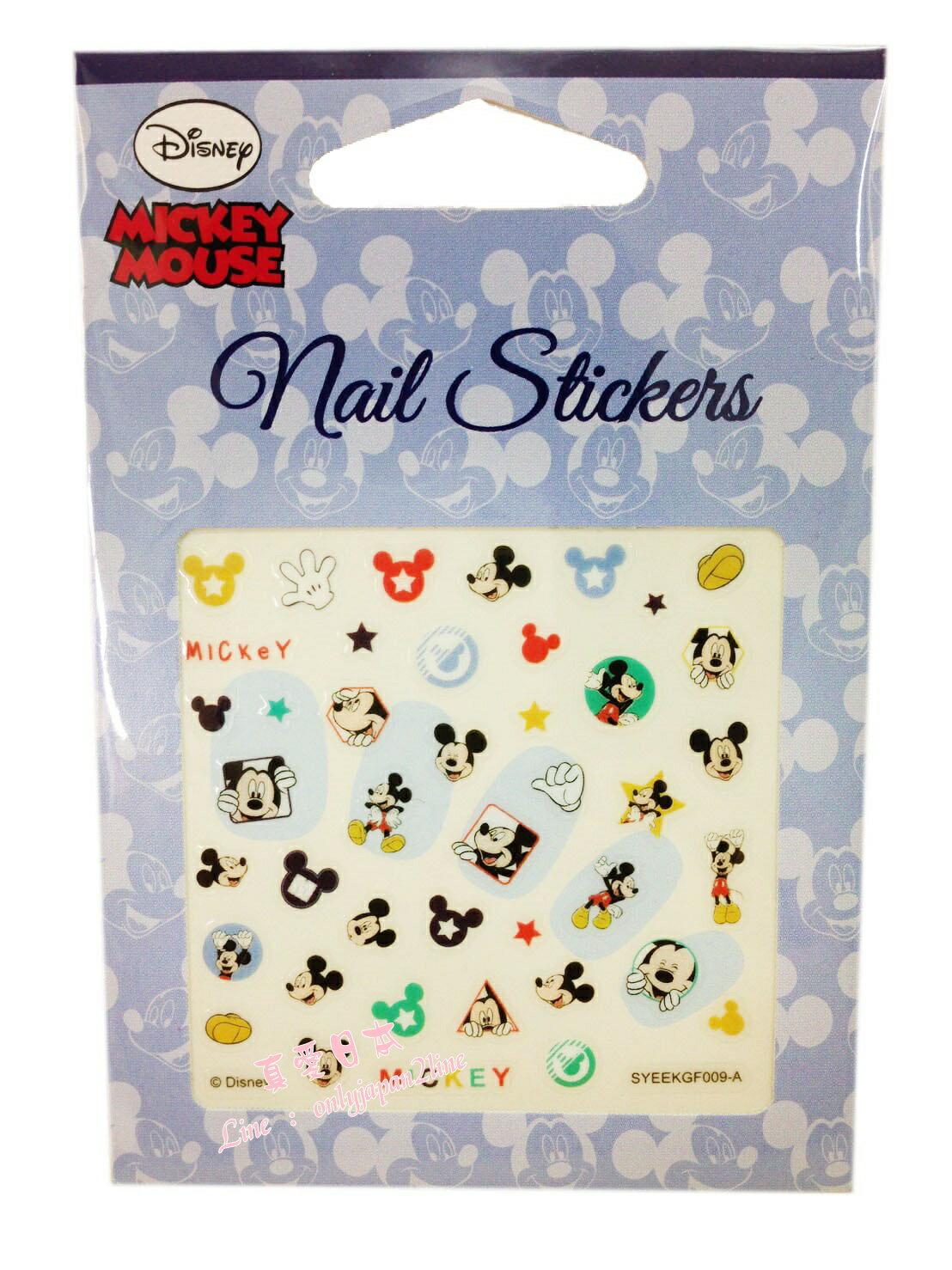 【真愛日本】16080600001彩繪美甲貼-手套米奇   迪士尼 米老鼠米奇 米妮  指甲彩繪 貼紙