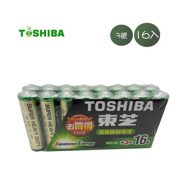 東芝Toshiba 3號 碳鋅電池 16入