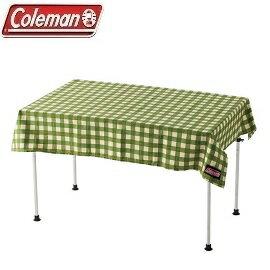 [Coleman]綠格紋防潑桌布110x145公司貨CM-26879