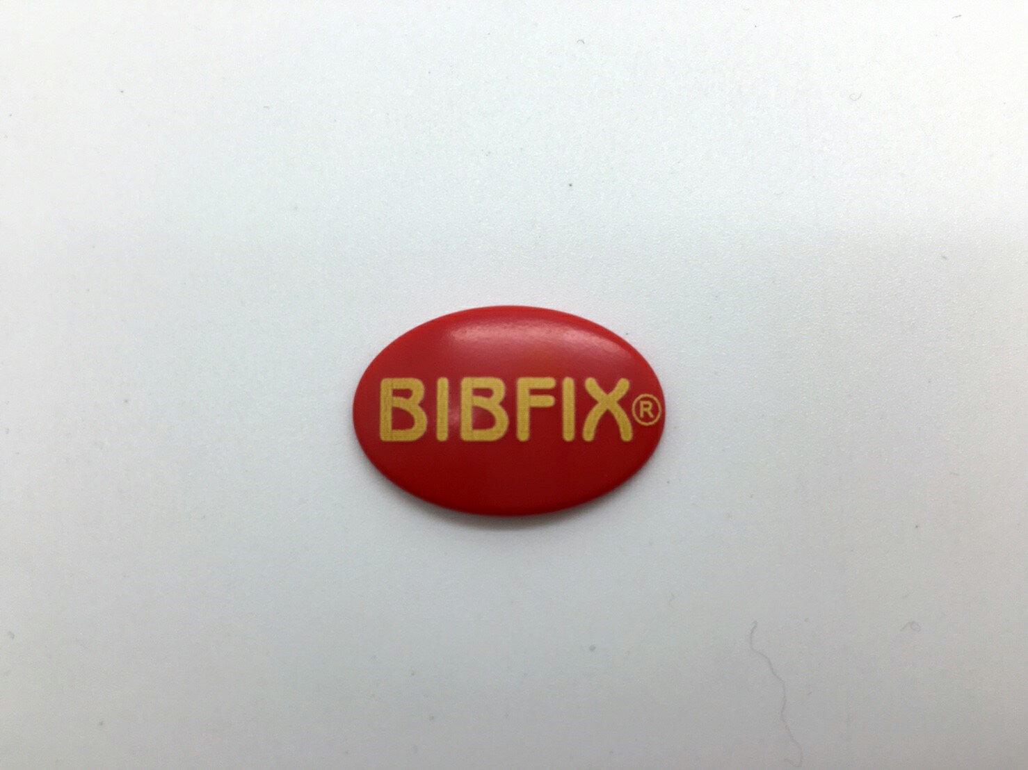 Bibfix號碼布塑膠扣 (紅底黃字)  附贈收納盒