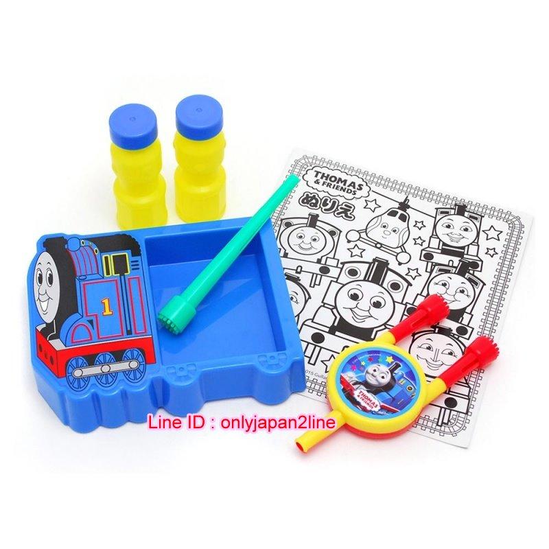 【真愛日本】16112100002吹泡泡附造型盤玩具-湯瑪士1號    THOMAS & FRIENDS 湯瑪士 小火車  玩具  收藏