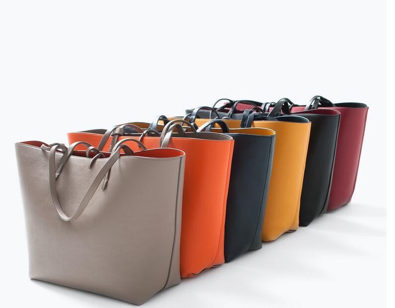 大包子母包雙色雙面手提包單肩包