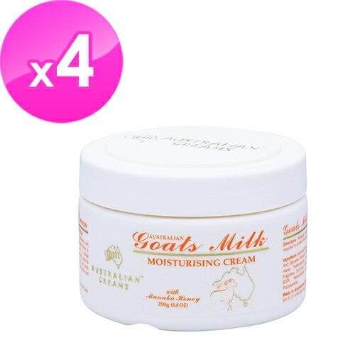 【澳洲G&M】山羊奶潤膚霜含曼努考蜂蜜(250g罐4入組)