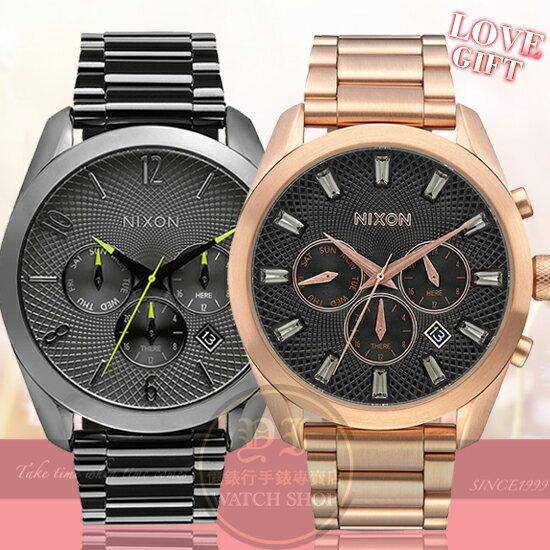 NIXON實體店TheBullet幾何菱格日曆情人對錶A366-131A931-2046原廠公司貨