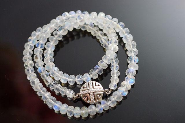 藍月光石項鍊 / 車輪切割 / 純銀飾品 / 原石擺件 / 全球熱銷中 / 台灣第一批首賣 M115