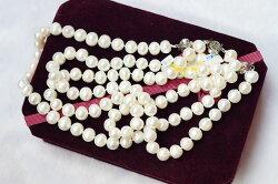 【喨喨飾品】天然珍珠項鍊 M279