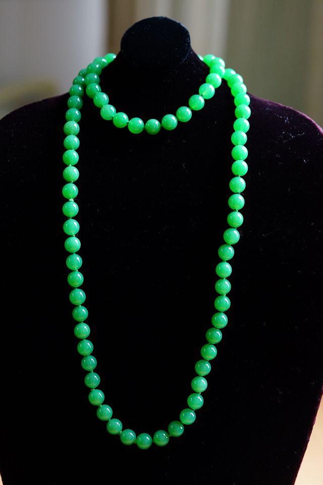 ~澳洲玉套組~ 手鍊  項鍊 色似翡翠,鮮豔之中有嫩的感覺~~喨喨飾品店~ ~M286
