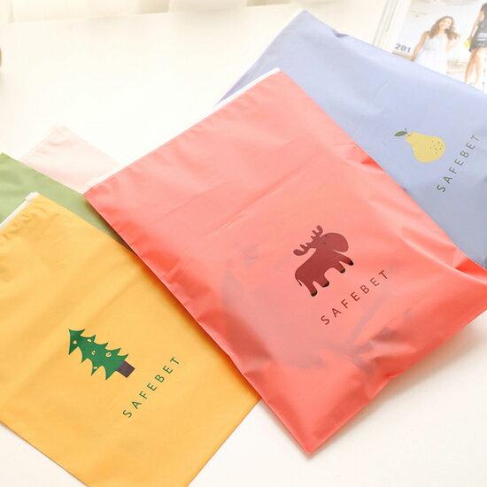 ♚MY COLOR♚配色圖案夾鏈袋 小 旅行 分類 衣物 整理袋 拉邊收納袋 整理 雜物 便攜 【K140】