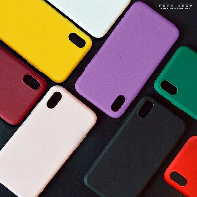 Free Shop 蘋果 iPhone X  XS  XR  XS MAX  8  7  6 糖果色磨砂TPU軟殼系列 全包防摔手機殼【QAGJ30149】