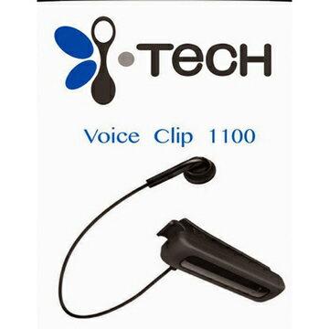 i-Tech iTech VoiceClip 1100 先創公司貨* 領夾式 藍牙耳機 單耳 來電震動 電量顯示 聽音樂 /禮贈品/TIS購物館