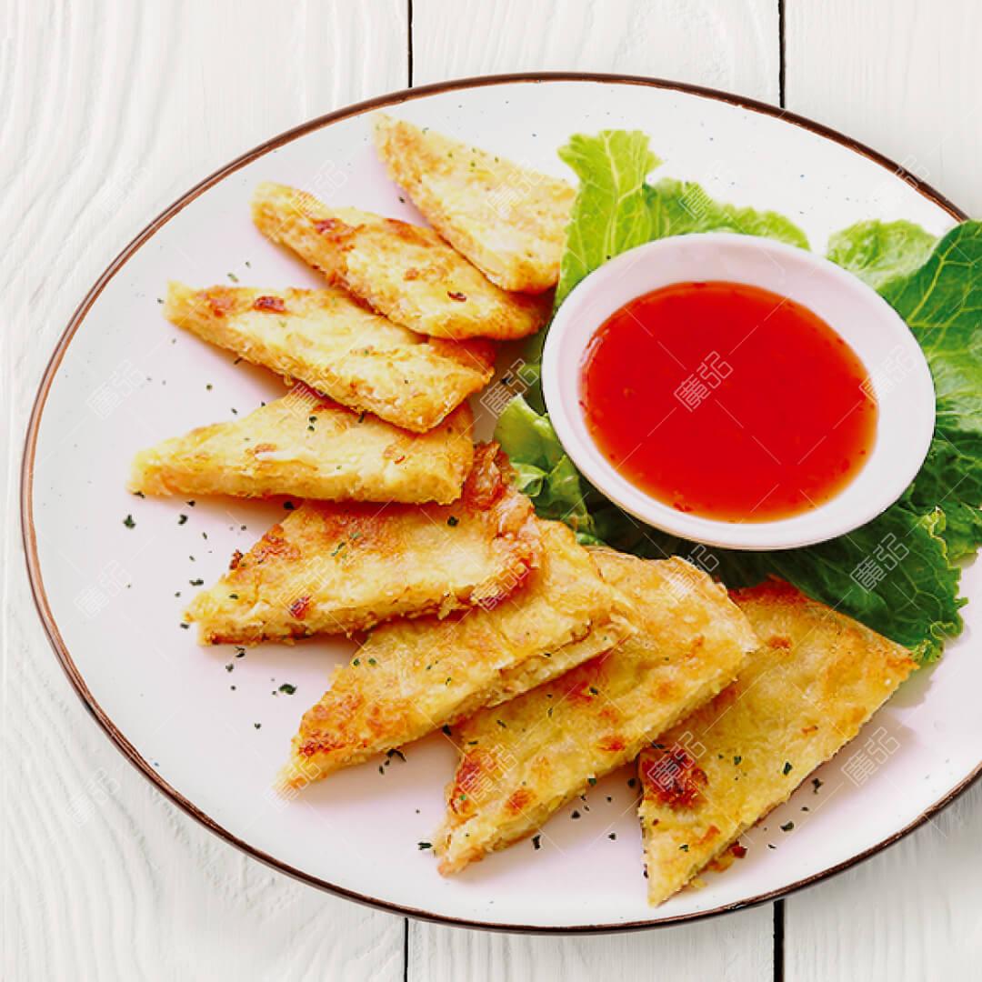 【傳香年菜】月亮蝦餅2入/泰式料理/美味小吃/加熱即食/冷凍食品/防疫美食/宅配美食