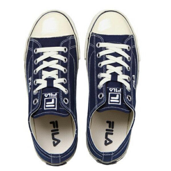 Shoestw【4C105T331】FILA CENTER COURT S 帆布鞋 休閒鞋 奶油底 深藍色 男女尺寸都有 2
