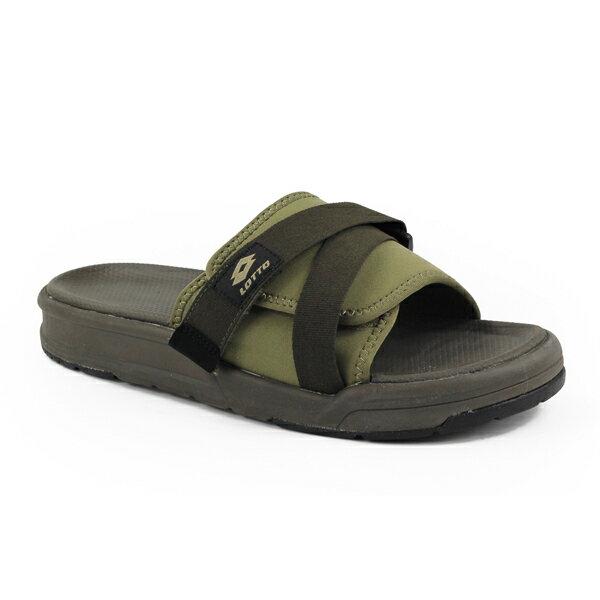 【巷子屋】義大利第一品牌-LOTTO樂得男款MILANO米蘭潮流拖鞋[6775]綠超值價$590