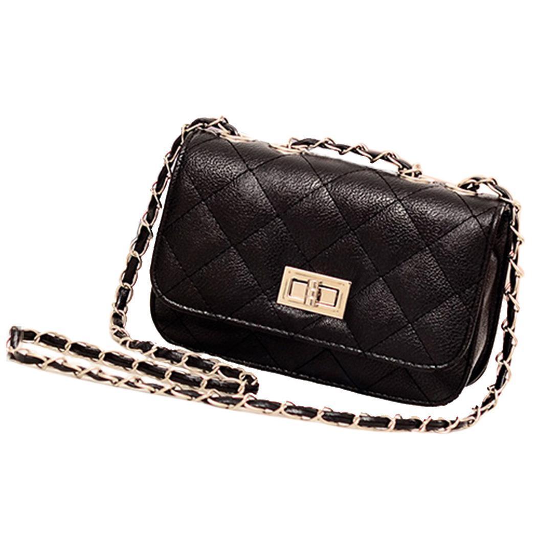 Leather Mini Chain Shoulder Handbag Purse 2