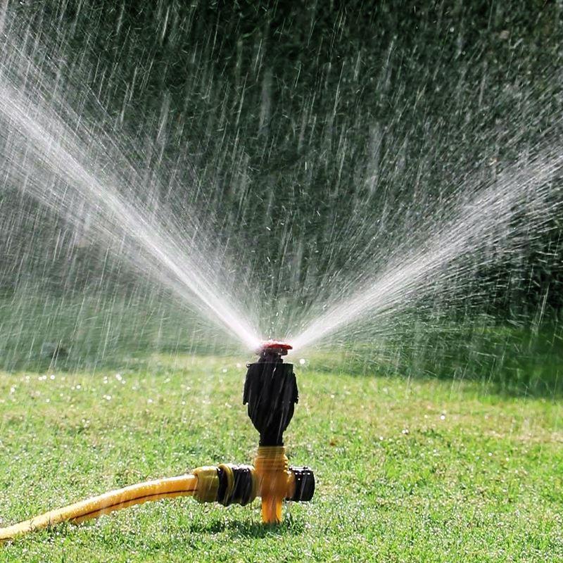 旋轉噴頭自動噴灌噴水器360度灑水園林澆水草坪綠化農
