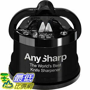 [106美國直購] AnySharp 黑色 磨刀器 Global Knife Sharpener with PowerGrip, Black