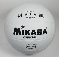 [陽光樂活=] MIKASA VR280 標準橡皮纏紗排球 5 號球 #5 送球網與充氣球針