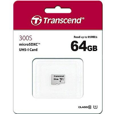 創見 300S 64GB U1 microSDHC UHS-I 記憶卡 (95MB / s) 0