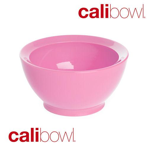 【淘氣寶寶】【美國 CaliBowl】專利防漏防滑幼兒學習碗(單入無蓋) 8oz -粉色【保證原廠公司貨】