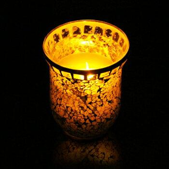 LOURDES AX-KAL12Lsl玻璃鑲嵌LED蠟燭燈(銀)