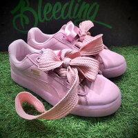 PUMA運動品牌推薦PUMA運動鞋/慢跑鞋/外套推薦到Puma Suede Heart Satin 蝴蝶結 粉色 女款