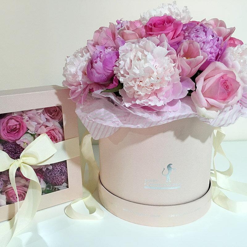 11.11 套二抱抱桶鮮花盒子禮盒玫瑰花插花束包裝盒