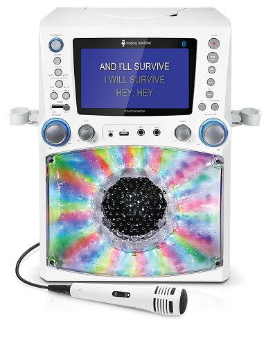Singing Machine STVG785BTW CD+G Bluetooth Karaoke System - White ff0264205f4ba6aa131d5a42825dd1fb