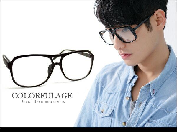 柒彩年代【NY124】東區店面時尚小物低調霧面黑膠框眼鏡鏡框中性單品˙單支價格