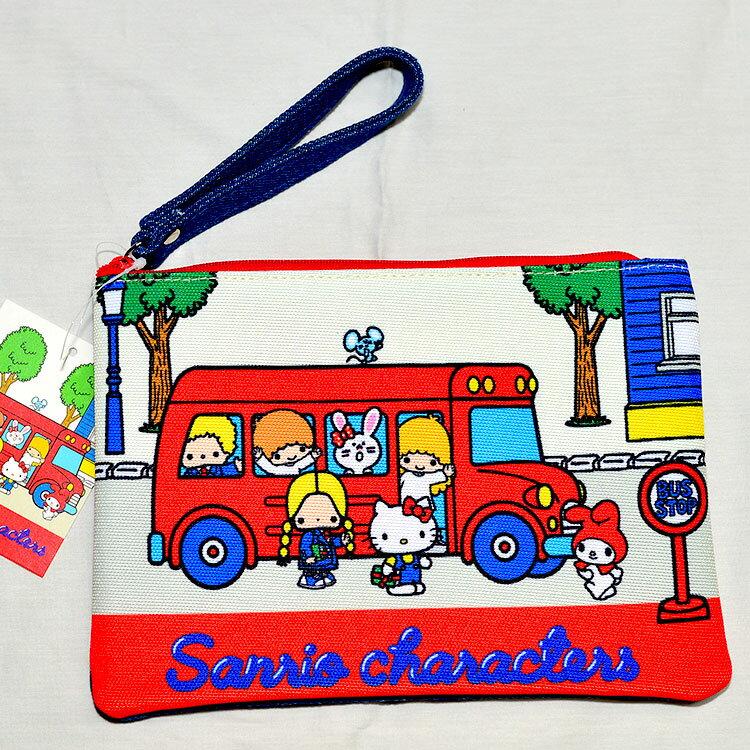 SANRIO三麗鷗家族 丹寧布 收納包 錢包 隨身包 文件袋 筆袋 帶回