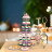 6 Tier Acrylic Round Transparent Cake Stand For Wedding Party Birthday Display 0