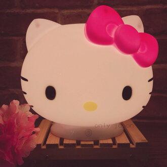 【真愛日本】18030600005 三段調光觸控夜燈-KT大頭粉結 凱蒂貓KITTY 小夜燈 氣氛燈 裝飾 擺設 造型夜燈 室內燈具