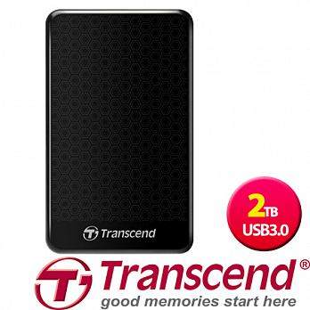 【Transcend 創見】 2.5吋 USB3.0高速黑色花紋時尚鏡面行動硬碟 StoreJet 25A3 2TB 【點數最高 29倍 / 首購滿 699 送 100 點 / (04/26 前滿$5..