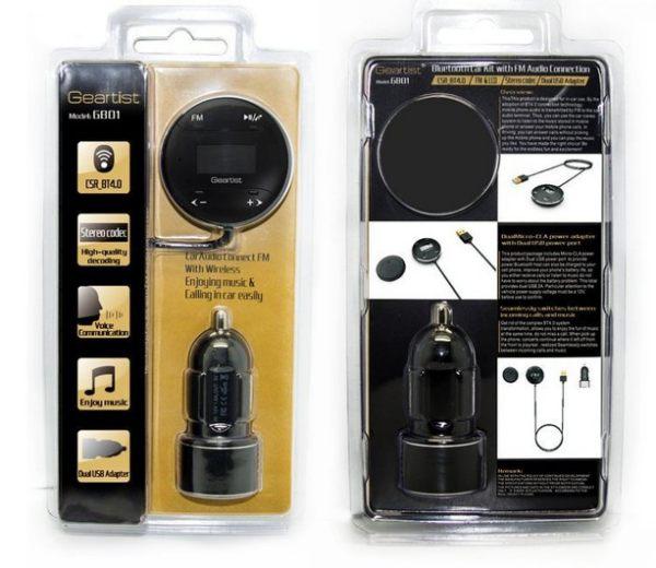 美國Geartist 藍牙傳輸器 汽車音響救星 FM發射器 藍芽音樂接收器 4.0 廣播 MP3 imb hanlin
