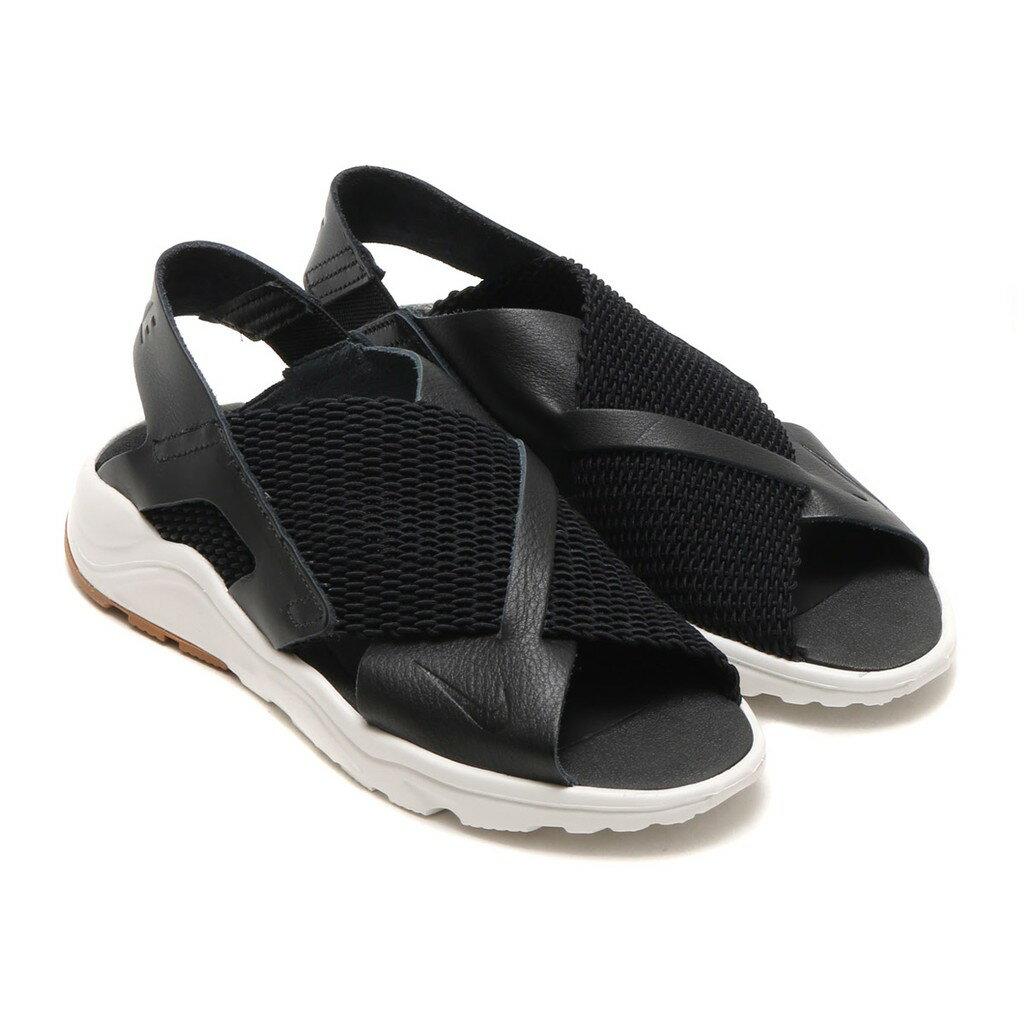 NIKE W Air Huarache Ultra 女鞋 涼鞋 休閒 武士鞋 皮革 梭織 黑 白 【運動世界】 885118-001