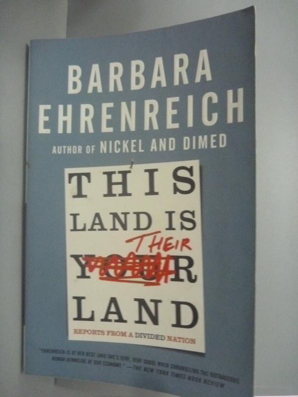 ~書寶 書T3/政治_KHQ~This Land Is Their Land: Repor