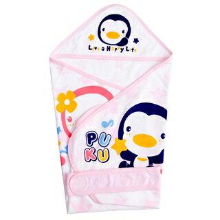 『121婦嬰用品館』PUKU 春夏單層包巾 - 粉