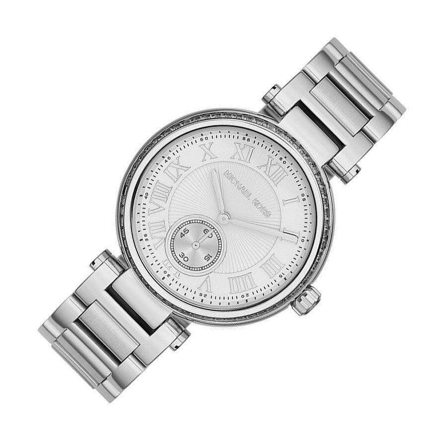 美國Outlet正品代購 MichaelKors MK 復古羅馬數字水鑽  陶瓷  三環 手錶 腕錶 MK5866 4