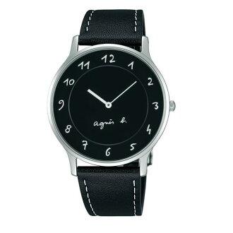 agnes b VJ20-K240Z(BJ5005X1)法式簡約時尚腕錶/黑面39mm